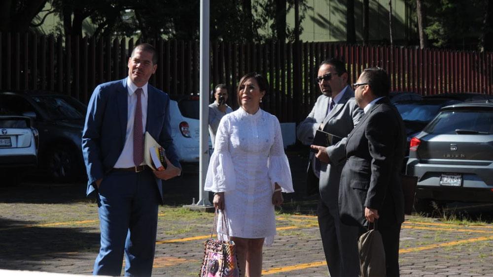 Rosario Robles acude al Reclusorio Sur para audiencia inicial - Foto de Ernesto Muñoz
