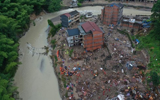 Al menos 18 muertos y 14 desaparecidos por tifón en China - tifón china