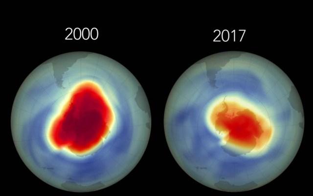 Sin resolverse deterioro de la capa de ozono: UNAM - Agujero de la capa de ozono sobre la Antártida. Foto de UNAM