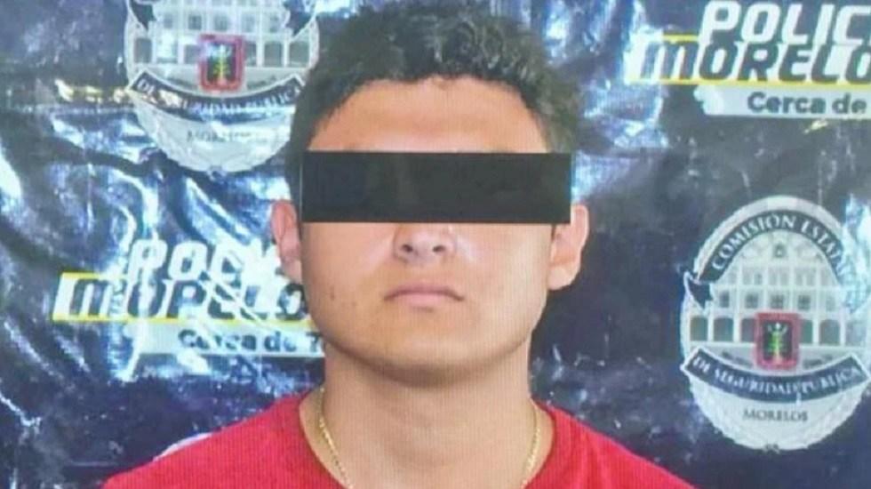 Detienen a hijo de 'El Carrete', líder de Los Rojos - Alexis, hijo de El carrete, cuando fue detenido en 2018. Foto de Archivo
