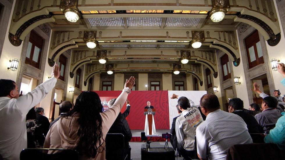 AMLO afirma que 'pacificar el país' es uno de sus grandes desafíos - 90913006. Ciudad de México, 13 Sep 2019 (Notimex-Isaías Hernández).-Aspectos de la conferencia matutina del Presidente Andrés Manuel López Obrador, el día de hoy brindó honores a los héroes de la patria en el marco del día de los niños héroes. Ciudad de México, 13 de septiembre. NOTIMEX/FOTO/ISAÍAS HERNANDEZ/IHH/POL/4TAT