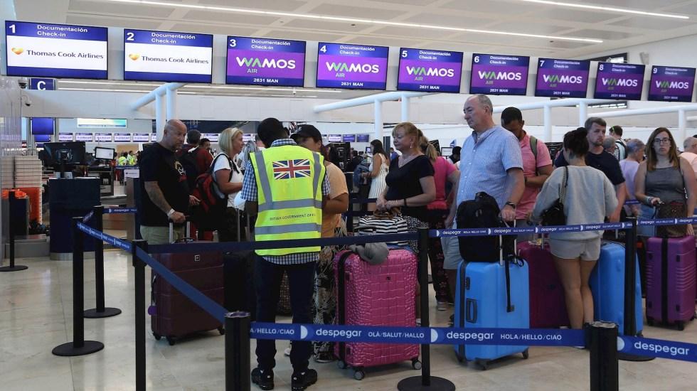 Sale de Cancún el segundo vuelo con turistas varados de Thomas Cook - Cancún ingleses varados Thomas Cook