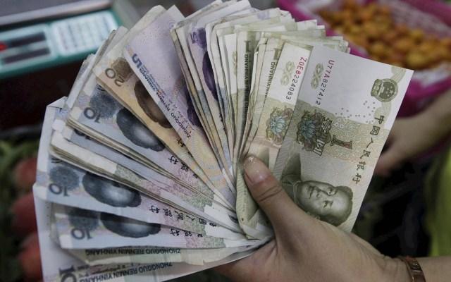 Inflación en China sube 2.8 por ciento interanual - China dinero billetes moneda