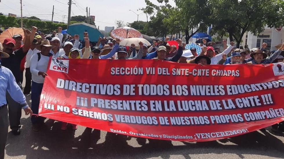 CNTE y gobierno de Chiapas logran acuerdo para frenar agresiones - pacto