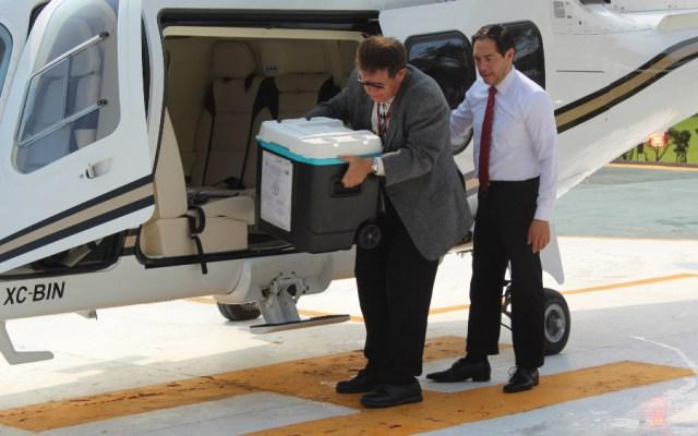 """Llega corazón en calidad de """"emergencia nacional"""" al Hospital General de La Raza - Foto de IMSS"""