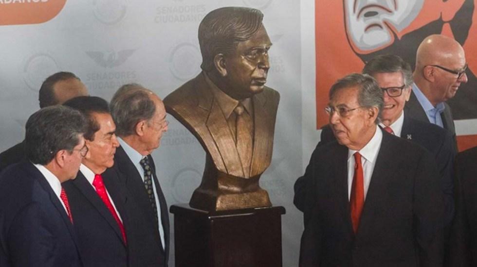 Senado de la República devela busto de Cuauhtémoc Cárdenas - Senado devela busto de Cuauhtémoc Cárdenas