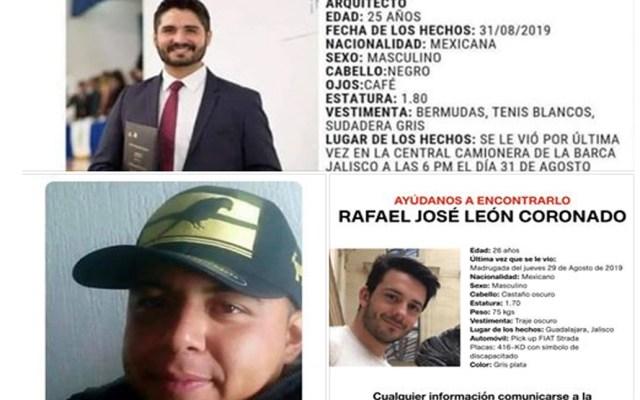 Denuncian desaparición de tres jóvenes durante la última semana en Jalisco - Foto de Facebook