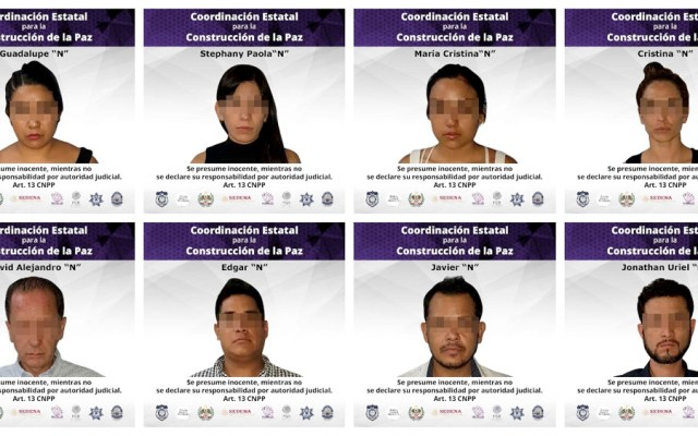 Detienen a ocho personas por fraude en Morelos - detenidos fraude morelos