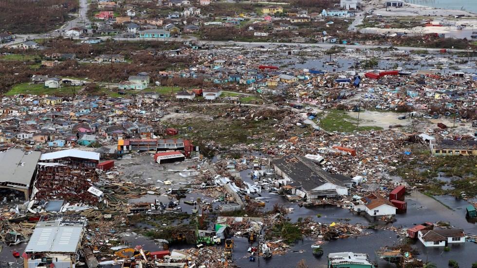 Gobierno de Bahamas rechaza cifra de 3 mil muertos tras paso de Dorian - Devastación en Bahamas por Dorian. Foto de EFE
