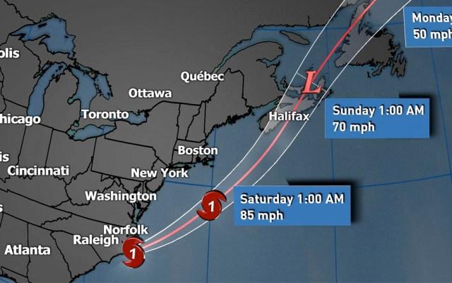 Dorian se degrada a huracán categoría 1 frente a la costa de EE.UU. - dorian