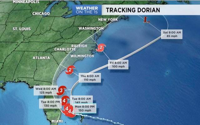 Dorian se degrada a categoría 4 sobre Bahamas - dorian categoria 4