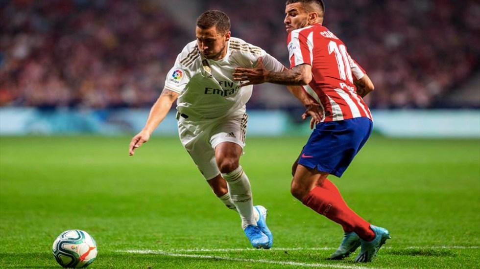 Solo necesito un gol para empezar a remontar: Hazard - Eden Hazard en partido contra el Atlético de Madrid. Foto de EFE