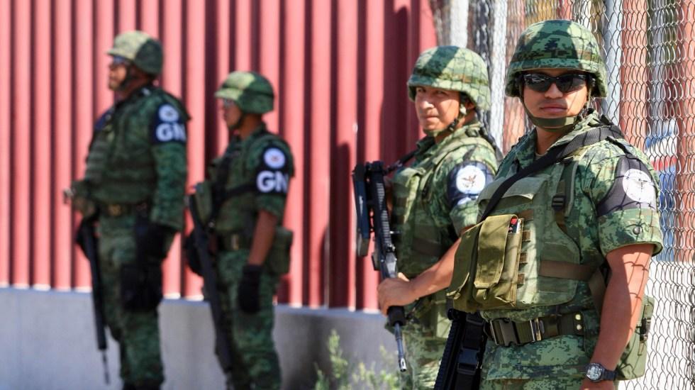 Militares y Guardia Nacional actuarán en legítima defensa en caso de agresión, confirma Sedena - Elementos de la GN. Foto de Notimex