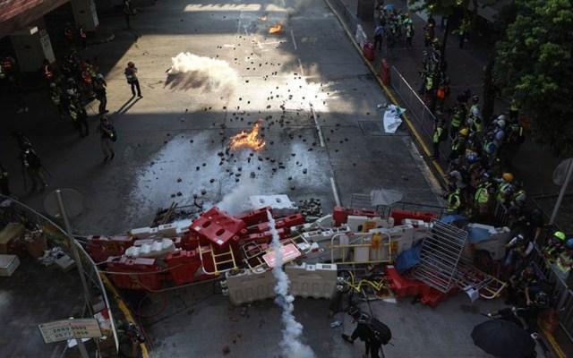 Enfrentamientos durante fin de semana de protestas en Hong Kong - Foto de EFE