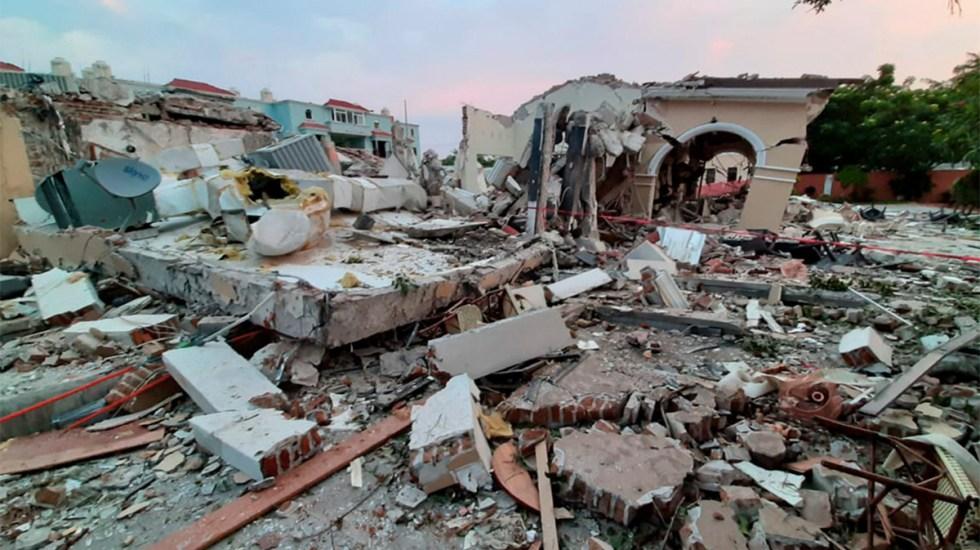 Explosión por gas destruye hotel y restaurante en Veracruz - Explosión de gas destruyó un hotel y un restaurante en Boca del Río. Foto de Milenio