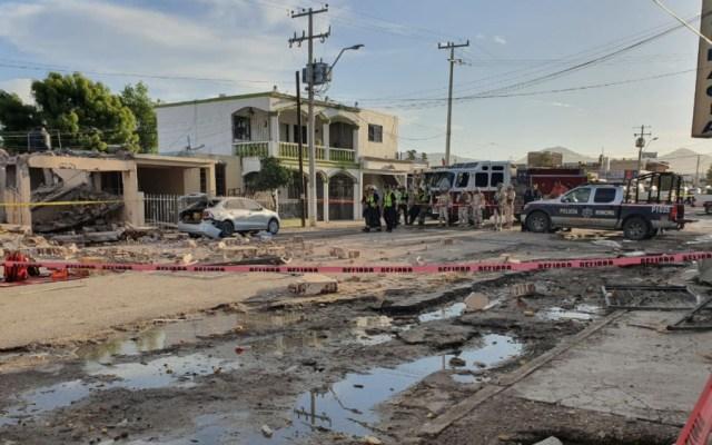 Muere madre e hija en explosión por acumulación de gas en Sonora - Foto de @poder_sa