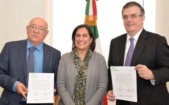 Auditarán dinero de ayuda para Mesoamérica y el Caribe - Firma de convenio entre SRE, Amexcid y ASF. Foto de @AMEXCID