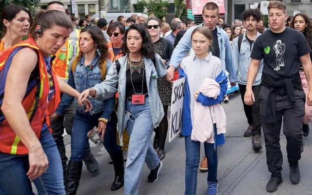 Greta Thunberg se reúne con Trudeau y encabeza marcha en Canadá - Greta Thunberg Canadá