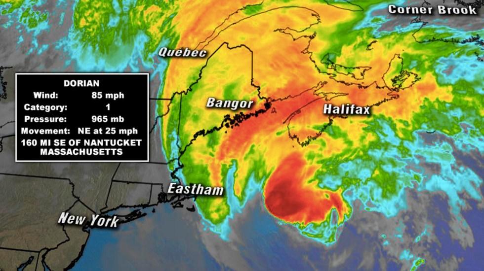 Dorian podría impactar en Canadá como huracán - huracán dorian Canadá