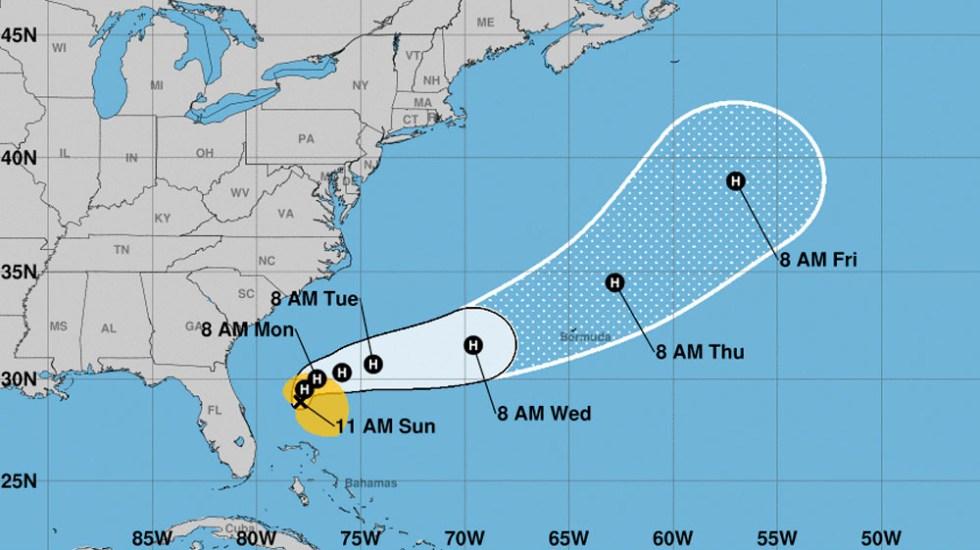 Humberto se convierte en huracán categoría 1 - huracán humberto