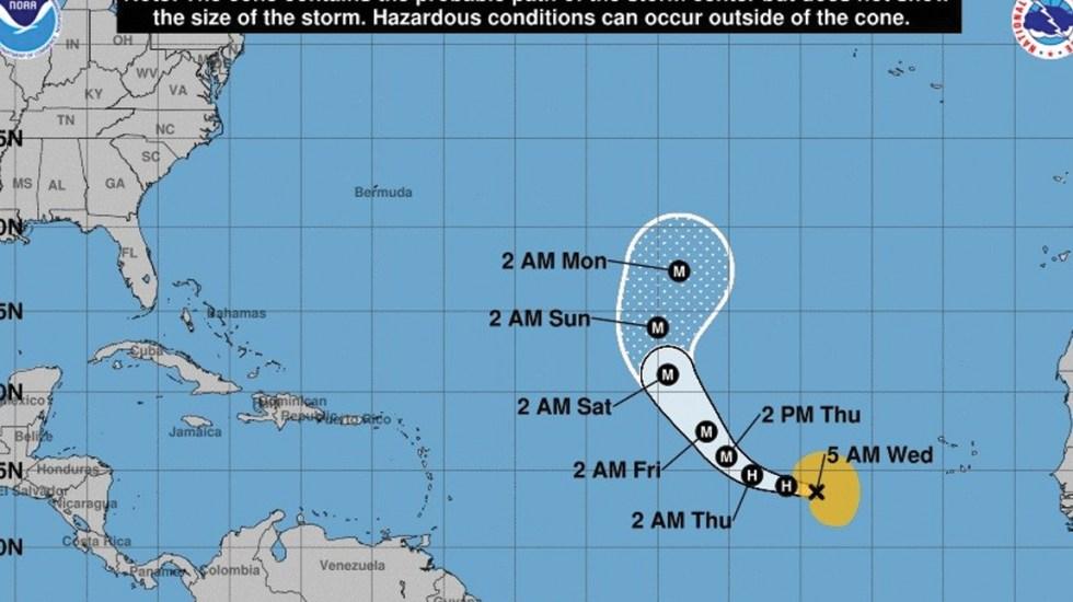 Lorenzo se convierte en huracán categoría 1 en el Atlántico - Foto de NHC