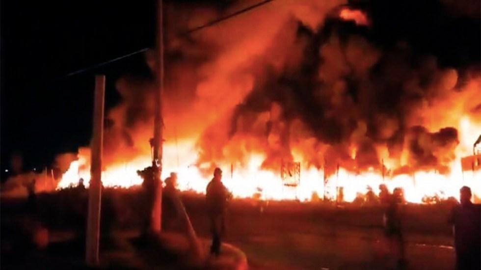 Se incendia depósito de llantas usadas en Tultitlán - incendio depósito de llantas tultitlán