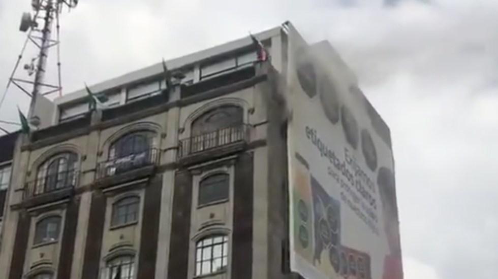 Controlan incendio en edificio del Centro Histórico de la Ciudad de México - incendio Palacio Vizcainas Centro Histórico