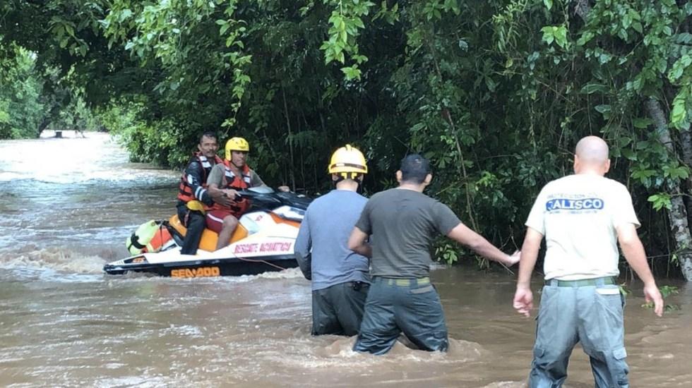 #Video Lorena provoca desbordamiento de río en Jalisco - Jalisco desbordamiento río afectaciones Lorena