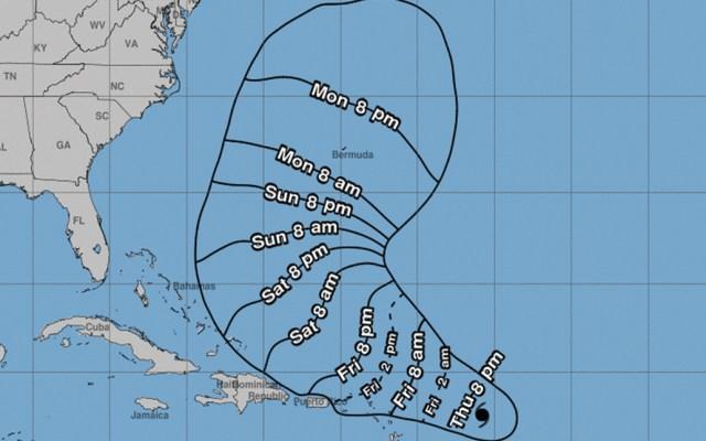 Huracán Jerry avanza hacia las Antillas Menores - Foto de HNC