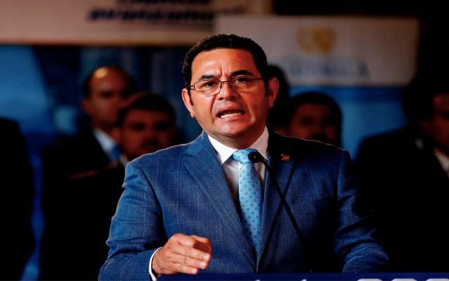 Acuerdo migratorio con EE.UU. no debe pasar por el Congreso: Jimmy Morales - Jimmy Morales aseguró que el acuerdo migratorio entre Estados Unidos y Guatemala no debe pasar por el Congreso de su país