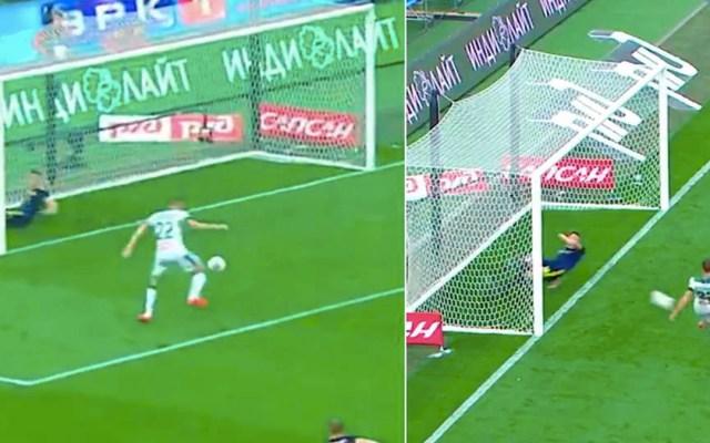 #Video Defensa evita dos anotaciones en la línea de gol - Evgeny Chernov jugador evita dos goles en la línea lokomotiv rostov