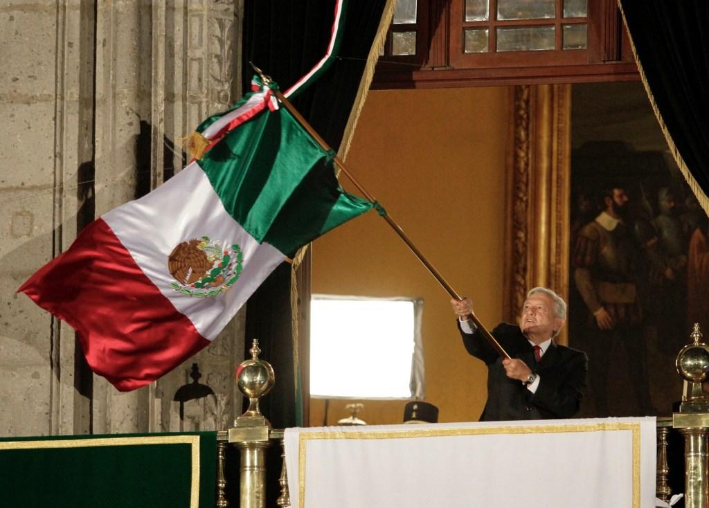 Así fue el primer Grito de Independencia de López Obrador. Noticias en tiempo real