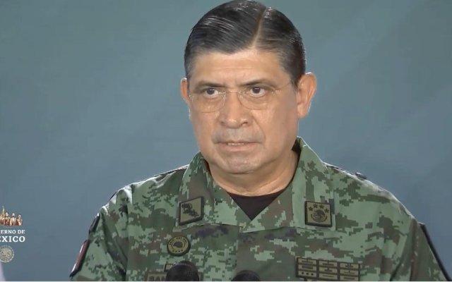 """""""Yucatán tiene una seguridad envidiable"""": Luis Cresencio Sandoval - Luis Cresencio Sandoval, secretario de Defensa, dando el parte de seguridad en Yucatán. Captura de Pantalla."""