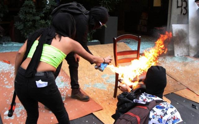 Actuar contra anarquistas pudo provocar más violencia: Rosa Icela Rodríguez - Marcha actos vandálicos 4