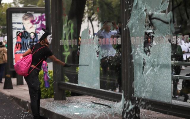 Canaco presenta denuncias por daños causados durante manifestaciones - Foto de Notimex