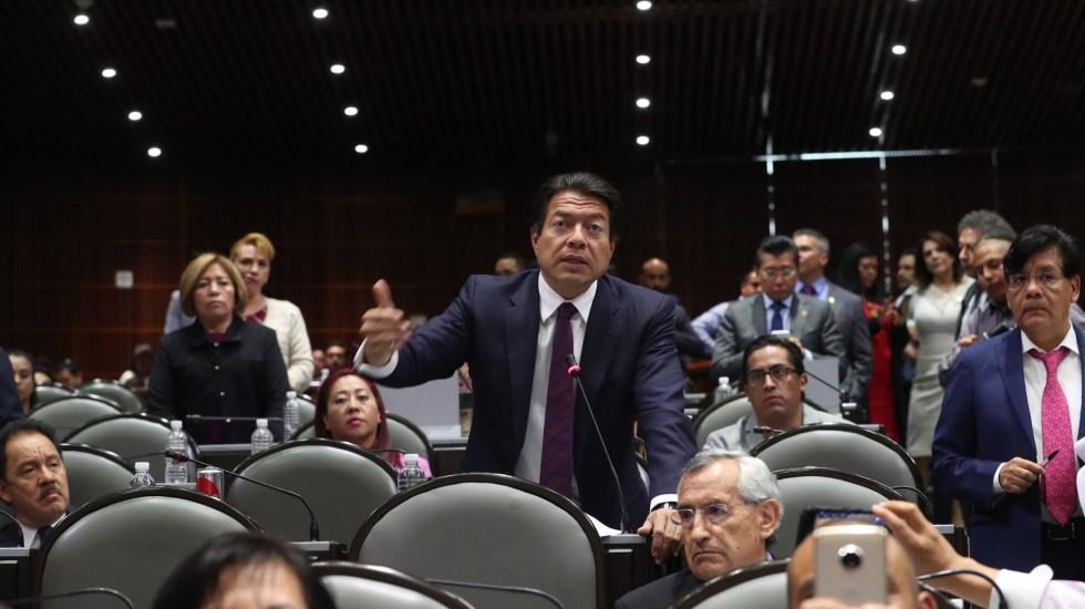 Mario Delgado pide a AMLO hacer público Censo del Bienestar - Foto de la Sesión Plenaria del 4 de Septiembre de 2019. Mario Delgado en la imagen. Foto de Archivo Notimex-Especial.