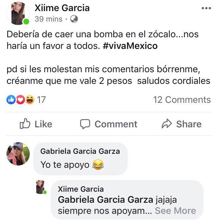 El mensaje publicado por Ximena García, piloto de Interjet, que generó críticas y cuestionamientos en redes sociales. Captura de pantalla.