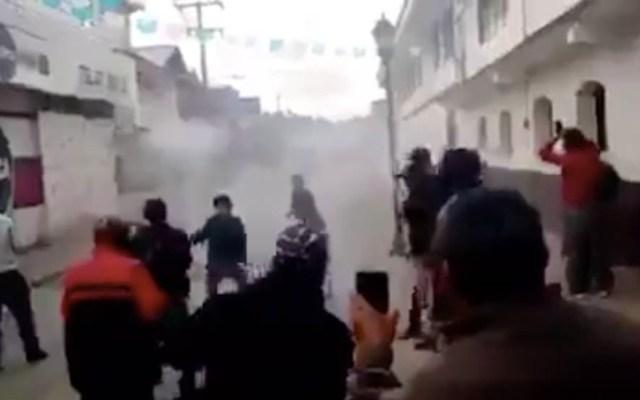 Se desata la violencia en Oxchuc, Chiapas - Captura de Pantalla