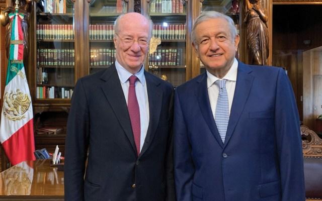 AMLO se reúne con Paolo Rocca en Palacio Nacional - Foto de Twitter Andrés Manuel López Obrador