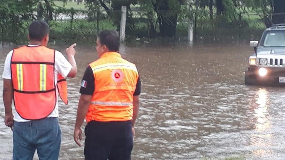 Narda toca tierra en Michoacán con lluvias torrenciales - PC Michoacán. Foto de @SdeGobMich