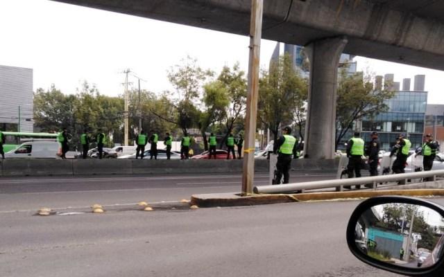 Operativo en Periférico ante posible bloqueo de policías federales - Operativo en Periférico ante posible bloqueo de policías federales