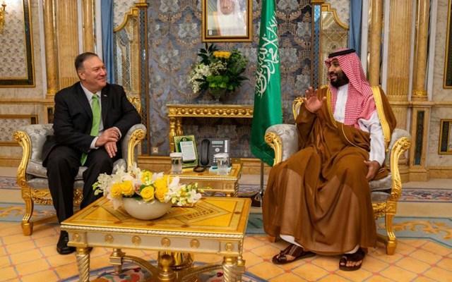 Pompeo regresa a EE.UU. con información importante tras reunión con socios del Golfo - pompeo arabia saudita