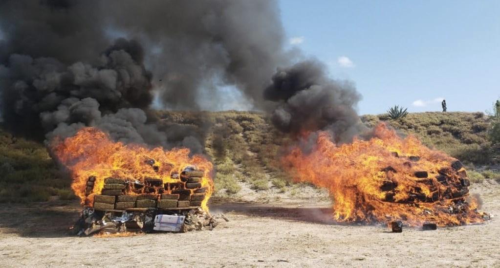 Destruyen más de 60 toneladas de drogas - Foto de FGR