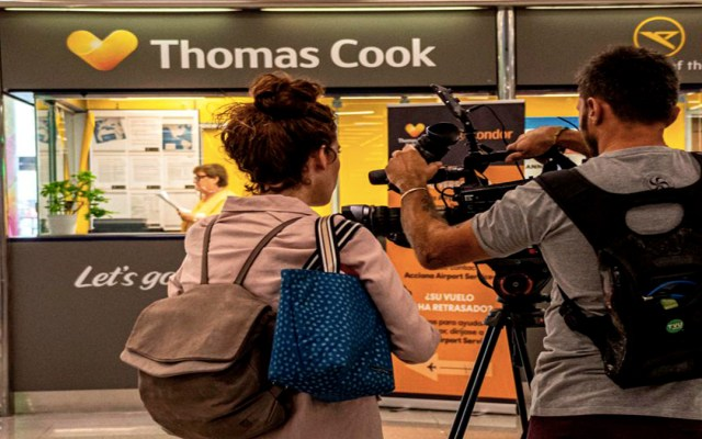 Thomas Cook quiebra y deja más de 600 mil turistas varados a nivel mundial - Thomas Cook se declaró en quiebra. Foto de EFE