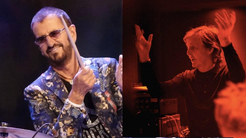 Ringo Starr y Paul McCartney homenajean a John Lennon - Ringo Starr y Paul McCartney John Lennon