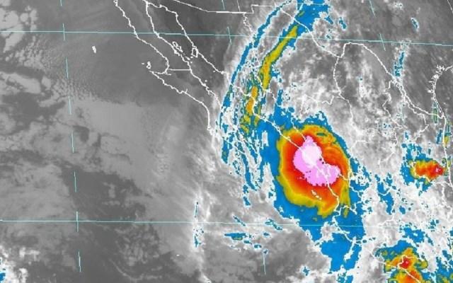 Narda recobra fuerza y vuelve a ser tormenta tropical - Tormenta tropical Narda. Foto de SMN