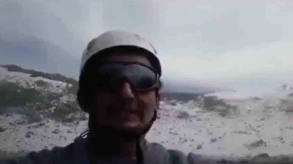 #Video Hombre asciende a cráter del volcán Popocatépetl - Captura de pantalla