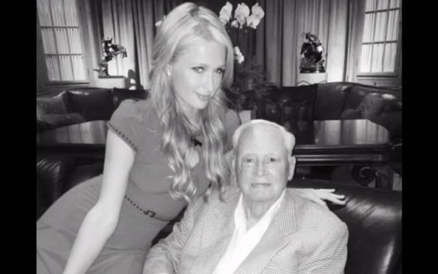 Muere el millonario hotelero William Barron Hilton a los 91 años - Paris Hilton con su abuelo William Barron Hilton. Foto de Instagram