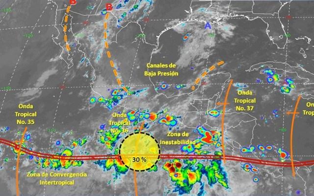 Prevén 30 por ciento de probabilidad para desarrollo ciclónico en el Pacífico - zona de estabilidad desarrollo ciclonico