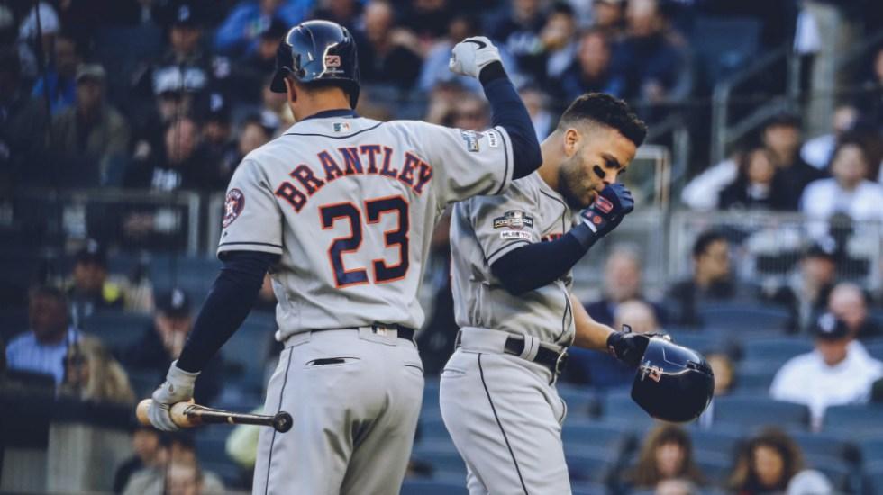 Astros ganan en Nueva York y adelantan serie a Yankees - Foto de @astros